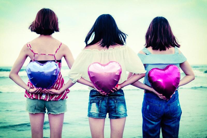 女の子3人